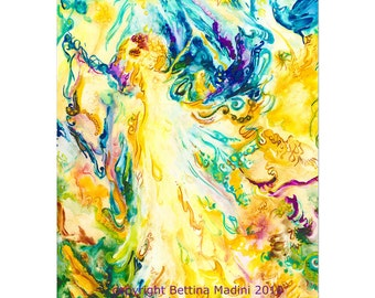 Angel of Abundance - high quality reproduction of my original painting