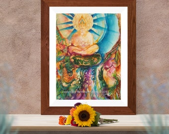 Buddha Nature - fine art (giclee) print of original Bettina Madini painting, unframed