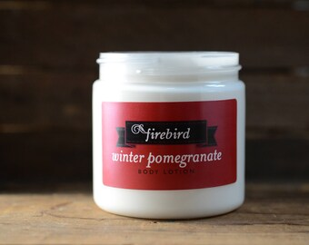 Winter Pomegranate Body Lotion - Avocado and Shea Butter Lotion