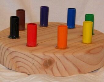 Wooden Marker Holder fits 8 Crayola Markers