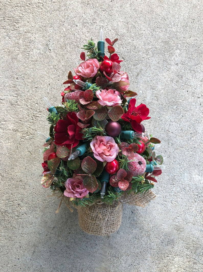 Christmas Tree  Tabletop tree  Roses and Berries Holiday image 0