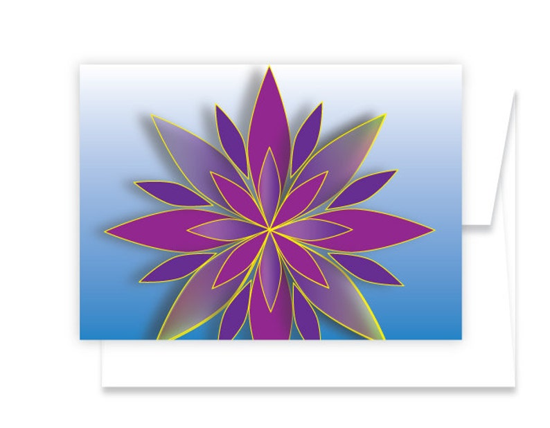 Holiday Greeting Cards  Available in Purple/Blue or red/Green image 0