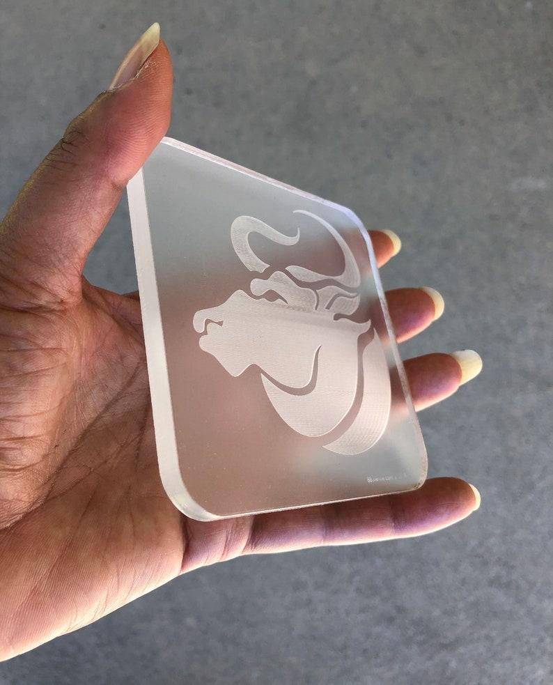 Taurus Bull Ox Coasters sets  Acrylic  Size: 3 3/4 x 3 image 0