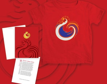 Rooster (Embroidered logo) - Baby T-shirt -6 months, 12 months or 18 months