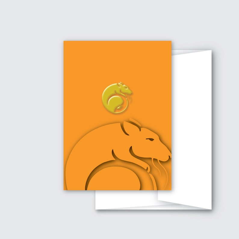 Rat Lunar New Year Greeting Cards  Chinese New Year 2020  image 0