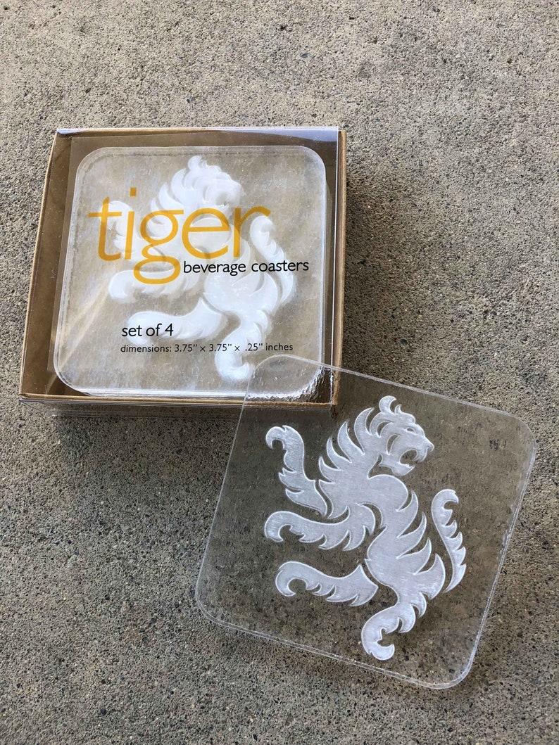 Tiger Coasters  Acrylic  Size: 3 3/4 x 3 3/4 x image 0