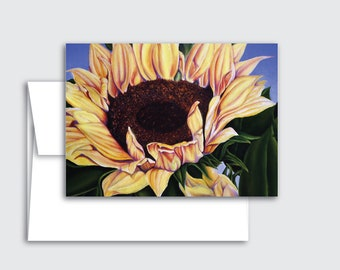 Sunflower or Tulips Greeting Cards