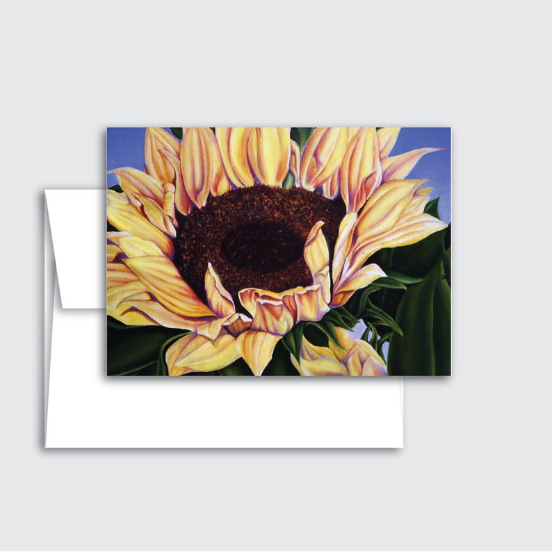 Sunflower or Tulips Greeting Cards Sunflowers