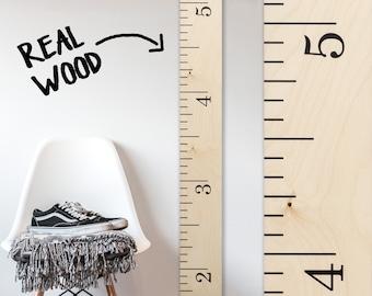 Modern Wooden Ruler Growth Chart / Wood Height Chart / Nursery / Baby Shower Gift / Scandinavian Nursery / Kids Room Decor