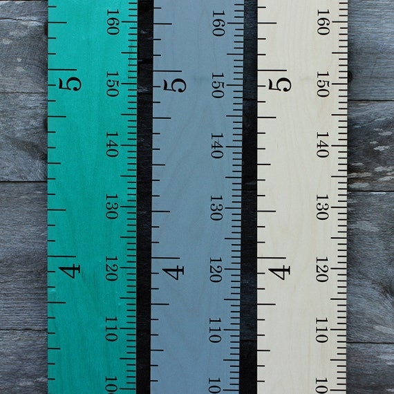Schoolhouse Wooden Ruler Growth Chart Kids Wood Height Chart Etsy
