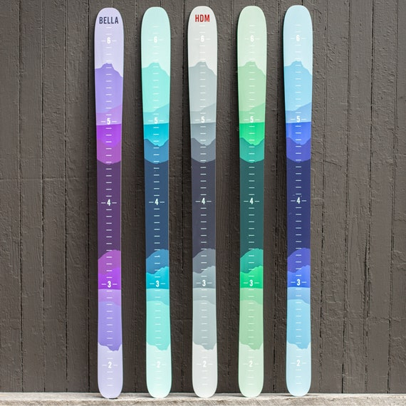 Silhouette Mountain ski, Ski Decor, Ski Kid, Ski Growth Chart, Ski Height Chart, Ski Room, Ski Family, Skier Gift, Mountain Decor