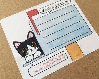 Mailbox Kitties Mailing Labels - Set of 12