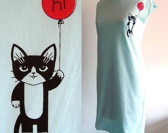 Light Blue Hi Kitty Tshirt Dress/Tunic in Large