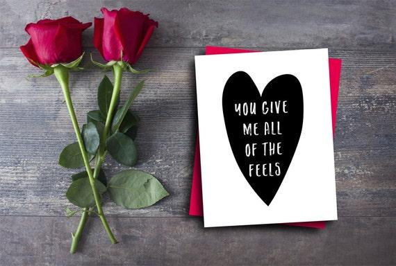 Lustige Valentinstag Karte Geben Sie Mir Alle Fuhlt Sich Etsy