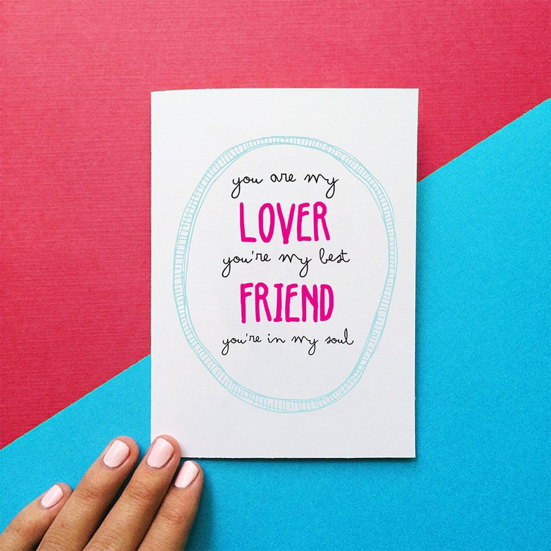 Valentine Card Romantic Anniversary You Are My Lover Youre Best Friend In Soul Rod Stewart Quote Birthday