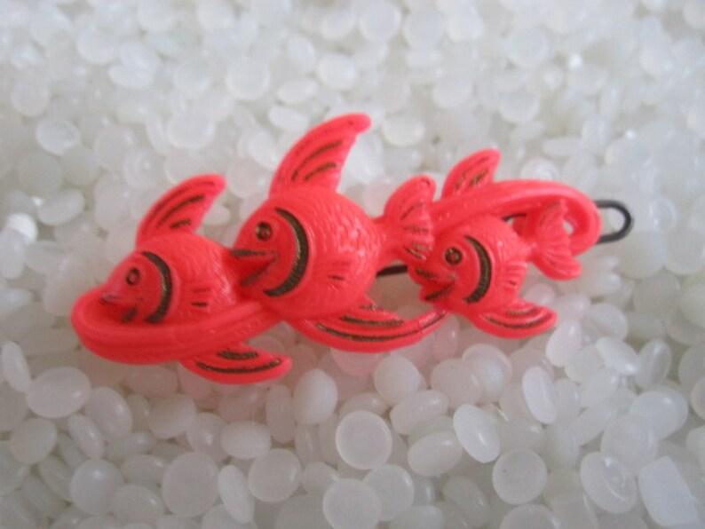Three  fish vintage hair barrette vintage children barrette