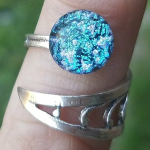 4 Styles Cremation Rings Ashes InFused Glass Sterling Silver Adjustable One Size Fits All Pet