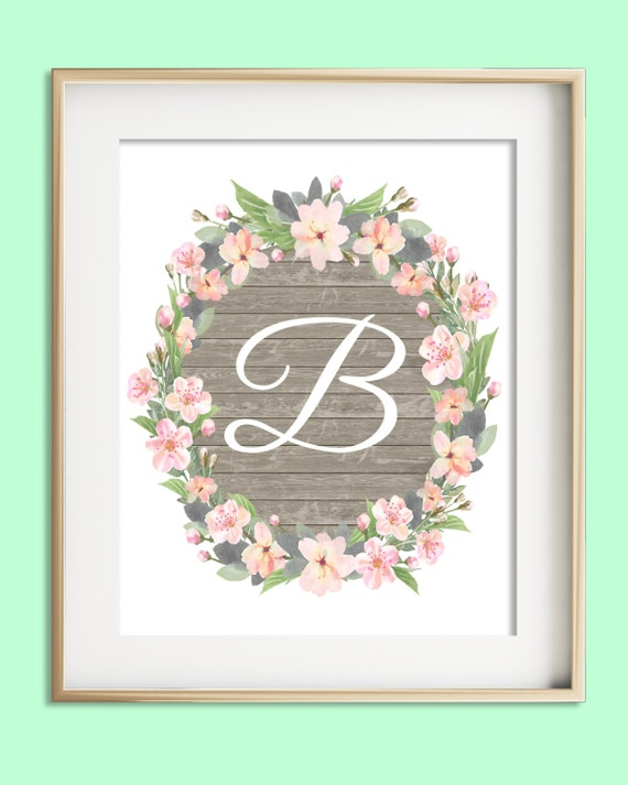 Litera B Do Druku Instant Download Baby Girl Przedszkola Etsy