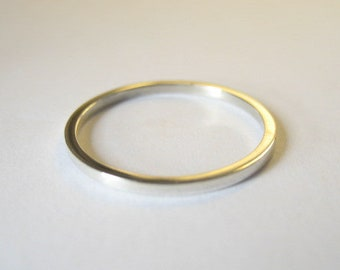 Sterling Silver Ring Band 1.3mm wide square wire