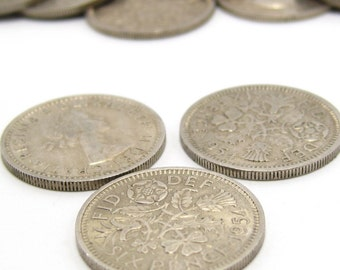 Lucky Sixpence Coins x 10. Pick Your Own Years from 1957 to 1967. Queen Elizabeth II.