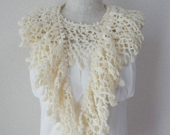 Organic Cotton Stole Scarf Off-white