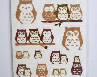 Japanese Washi Stickers / Owls