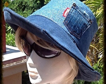 04b83882864df Denim Anytime Hat From Recycled Vintage Levis