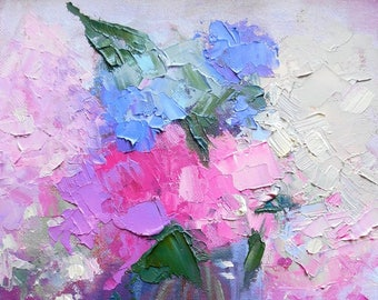 Flower Giclee Canvas Print, Hydrangea Print, Oil Floral Print, Carol Schiff Print, free shipping, choose your size, ready to hang