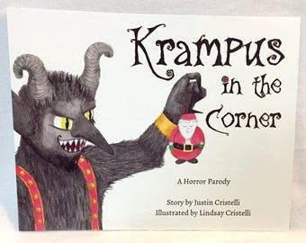 Krampus in the Corner paperback book