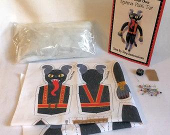 Krampus plush toy DIY sewing kit