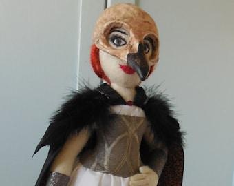 Morrigan art doll