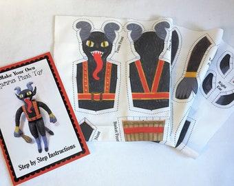 Krampus plush toy fabric and instructions DIY