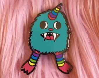Rainbow Baby Monster enamel pin