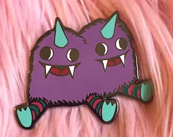 Conjoined Twins Monster enamel pin