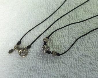 Dainty sterling silver rhinestone necklace