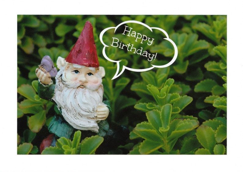 Nain de jardin joyeux anniversaire Photo cartes de | Etsy