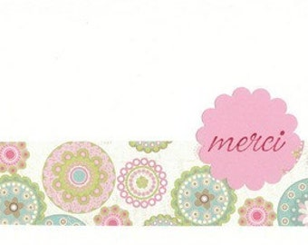 Pretty Pink Merci Notes - Set of TEN