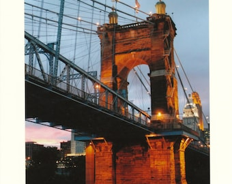 Roebling Suspension Bridge, Cincinnati PHOTO NOTES Set of Ten