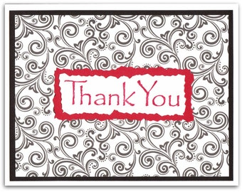 Swirls and Twirls Thank You Cards - Set of 10