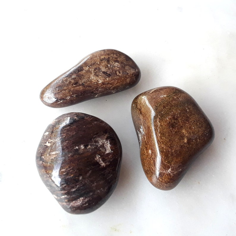 b902185e0b6b1 Golden Bronzite - READ DESCRIPTION - Large Tumbled Stone - Wicca Pagan  Witch Stones - Grounding Leadership Confidence Courage Protection