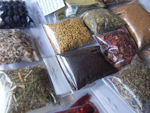 WHOLESALE Wicca Herbs Botanica Sampler - READ DESCRIPTION - Witch Pagan  Spell Supplies - Hyssop Rose Cloves Mugwort Cedar Juniper Peppermint