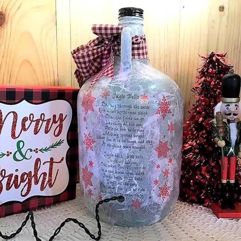 Christmas decor holiday decorations Christmas lights Christmas decorations bottle with lights Christmas lamp farmhouse Christmas