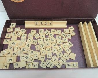 Vintage Scrabble Board Game, Scrabble Pieces, Game Supplies