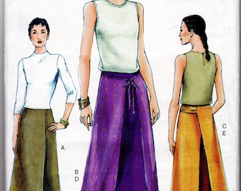 Skirt and Overskirt Pattern, Very Easy Sewing, Only, Vogue Pattern 7303