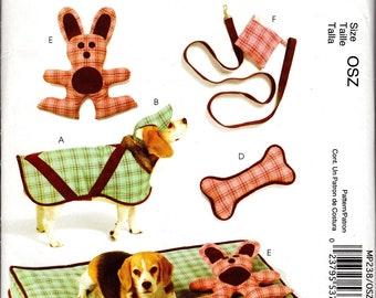 McCall's Crafts Pattern MP238, Dog Accessory Pattern, Dog Jacket, Dog Bed, Dog Toy Pattern