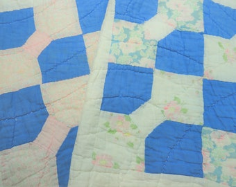 Vintage Quilt Pillow Covers, Handmade Quilt Pillow Covers