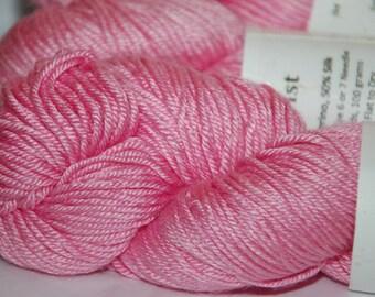 Studio June Yarn, Silky Twist, Superwash Merino & Silk ,Worsted Weight, Color: Pink