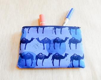 Make Up Bag/ Pencil Case/ Camel Gift for Her/ Gift for Women/ / Coworker Gift/ Best Friend Gift/ Sister Gift/ Graduation Gift/ Teacher Gifts