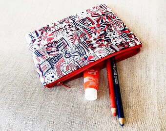 Pen Case/ Gift For Mom/ Coworker Gift/ Liberty of London Gift for Women/ Make Up Bag/ Christmas Gift/ BFF Gift/ Wife Gift/ Gift for Sister