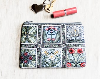 Pencil Case/ Floral Gift for Her/ Gift for Mom/ Coworker Gift/ BFF Gift/ Gift for Wife/ Make Up Bag/ Sister Gift/ Bridesmaids Gift/ Pouch